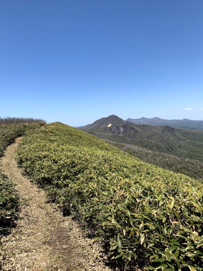 来馬岳からオロフレ峠までの道